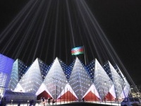 Lo stadio luminoso dell'Eurovision